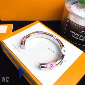 Дизайнер браслет роскошь дизайнер ювелирных женщин браслеты цветок декор Loius VUTTON Empreinte женские браслеты ювелирные изделия Открытый тип средний