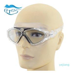luxury- Profesional swimming goggles for men women underwater big classes anti-fog waterproof UV swimwear silicone belt