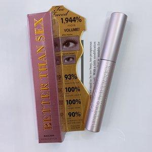 Mejor que el sexo del rimel del maquillaje del LATIGAZO Negro de larga duración a prueba de agua Ojos máscara de pestañas 8 ml Dropshipping de aluminio tubo de rímel