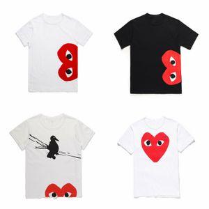 2019 COM en gros nouvelle haute qualité nouvelle chaude vacances coeur Emoji japonais blanc noir pois coeur blanc t shirt hommes femmes