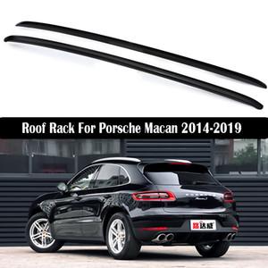 Barres de toit pour Porsche Macan 2014-2019 Porte-bagages Rails porte-bagages Bar Bars haut Racks Boîtes rail en alliage d'aluminium