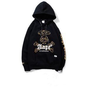Manica lunga AAPE del progettista del Mens del rivestimento del Hoodie di Hip Hop Mens magliette felpate donne degli uomini di alta qualità del progettista
