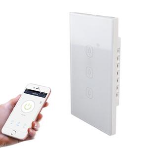 2.4G 3 Кнопки Смарт Light Wall Switch, поддержка Alexa / Главная страница Google Voice Control, разъемные США