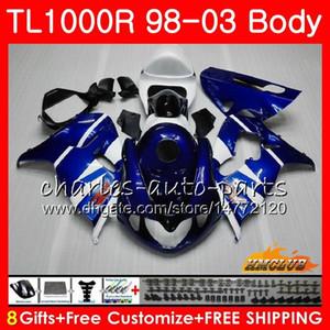 Carenado para SUZUKI SRAD TL1000R TL 1000 R TL 1000R azul de fábrica Kit 19HC.14 TL1000 R 98 99 00 01 02 03 1998 1999 2000 2001 2002 2003 Bodys