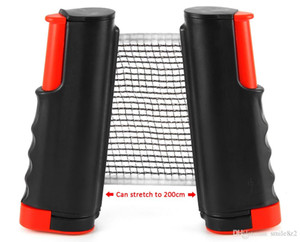 Table Tennis Nets Posts Newest Retractable Table Tennis Ping Pong Games Portable Net Kit Replacement Black Top Quality 1BZ