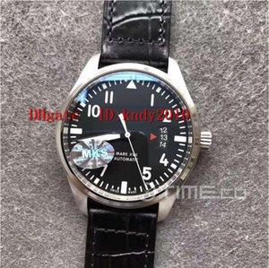 MKS Fabrika Schaffhausen Pilot IW326501 Erkek Kol Mark XVII Sürümü Safir Kristal V2 Siyah Suya Dayanıklı A2892 Mekanik Dial