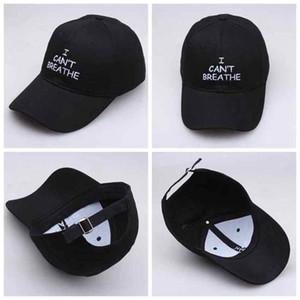 Я не могу дышать Cap Letter Печать Вышитые Baseball Cap Открытый Летняя Snapbacks Спорт Регулируемый Hat ZZA2239 300pcs