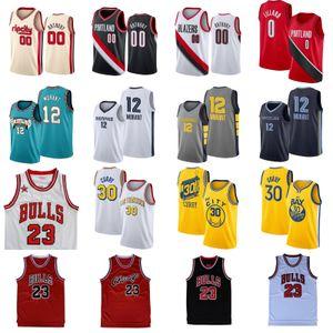 Stephen Curry 30 NCAA Jersey 23 Michael Ja 12 Morant Damian Lillard 0 Carmelo Anthony 00 hombres jerseys del baloncesto
