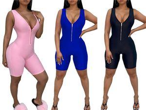 Muxu V шеи женщины Комбинезон тела Feminino Streetwear лето 2020 Одежда Rompers Женская одежда Плюс Размер Wide Leg Комбинезон Y19060501 # 87103