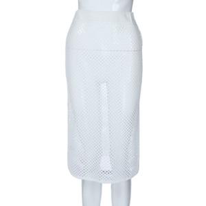 Jaycosin jupe mode féminine sexy jupe de bikini en maille ajourée tissée à la main plage été femmes Bikin Beach plissé