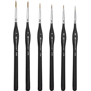 Detail Paint Brush with Black Post for Watercolor Miniature Acrylic Oil Painting Eyeliner Pencil Paint Brush R29