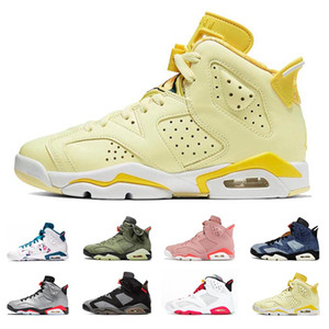 nike air jordan restro Оптовая Обувь 6 6 S пшеница баскетбол обувь мужчины кроссовки UNC оранжевый спортивная обувь размер Eur 40-47