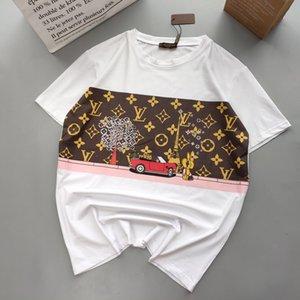 Summer Designershirts Men Women Fashion Luxury Top Tees Hot Brandtshirt Short Sleeve Mens Streetwear V B105874D