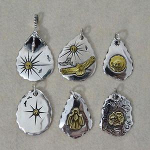 Sterling Silver Eagle Подвеска DIY ожерелье аксессуары кулон ретро тайский серебряные перья Такахаши Кагура Горо Eagle Shield
