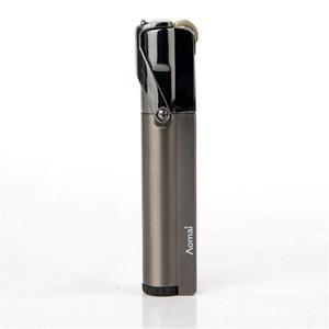 New Style Cigarette Accessori antivento Slim Gas Lighter Forma cilindrica della copertura del metallo sigaro Accendini Am322