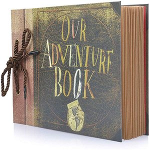 80 Pages Retro Our Adventure Book Photo Album Handmade DIY Family Scrapbook for Christmas Anniversary Wedding Birthday