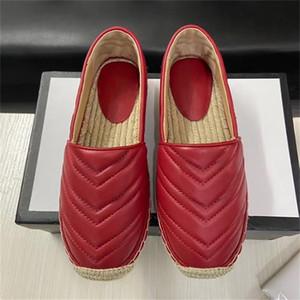 5 цветов женщины кожаные эспадрильи сандалии черный телячья кожа Espadrille платформы скольжения на Повседневная обувь шнур площадку мягкой подошвой дизайнер обуви