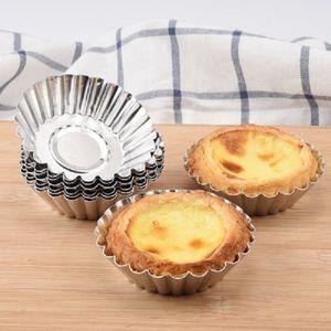 Alüminyum Yuvarlak Şekil Muffin Pişirme Araçları Yumurta Tart Puding Durumlarda Kek Cupcake Liner Pişirme Pişirme Kalıp
