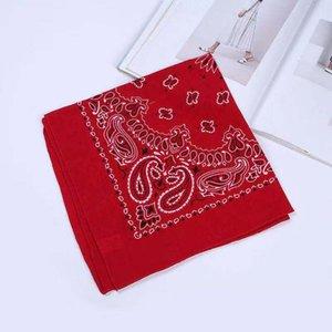 Todos los 55cm algodón de la flor de anacardo bufanda cuadrada calle danza de Hip Hop velo de múltiples colores planos BANDANA por mayor fábrica