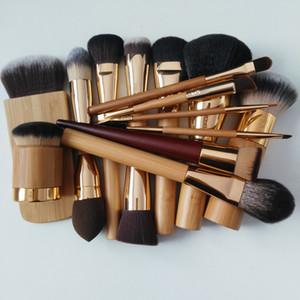 Brand 100% cepillos cosméticos de maquillaje TT herramientas destacando cara del cepillo fan base en polvo contorno mezclar en polvo de bambú compone cepillos.