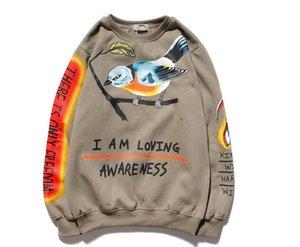 Bin Qualität I Top Loving Awareness Hüfte Sweatshirt Lustige Ärmel Rapper Sweatshirts Vogel I Brief Hop am liebenden Hoodie Schädel Lange Oimta