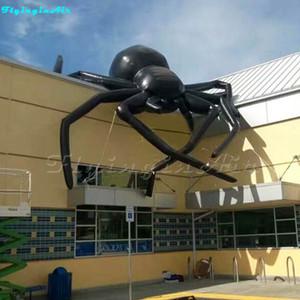 건물에 대 한 거 대 한 끔찍한 할로윈 검은 풍선 거미 / 지붕 할로윈 장식