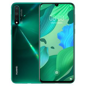 Оригинальный Huawei Нов 5 Pro 4G LTE сотового телефона 8GB RAM 128GB 256GB диск Кирин 980 окт Ядро Android-6,39-дюймовый 48MP отпечатки пальцы ID Мобильный телефон