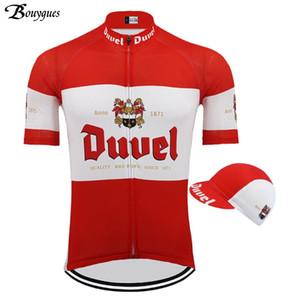 Manica corta Classic Cycling Jersey Ropa Ciclismo Hombre squadra vestiti di riciclaggio rosso / Balck MTB Duvel Uomo Beer