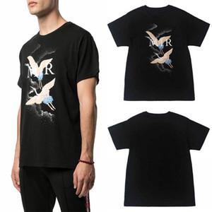 20ss Designer T Shirt Luxo Verão Camiseta Fogo Guindaste Homens Mulheres Moda Preto Cotton Tees manga curta Tamanho S-XXL