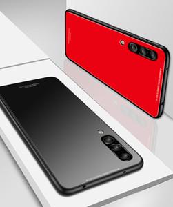 Pour Samsung Galaxy A10 A30 A40 A50 A70 M10 M20 M30 Cas De Luxe En Verre Trempé Doux Silicone Antichoc Dur Couverture de Téléphone