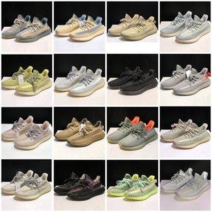 con Máscara libre de la escoria Oreo Tierra Desert Sage Kanye mens v2 zapatos de diseño de lino de lino Marsh cola para mujer ligero zapatillas de deporte corrientes Tamaño 36-45