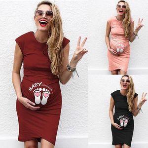 Summer Women Pregnant Dress Short Sleeve Pregnant Nursing Maternity Dress Solid Print Skirt Fashion Mother maternity dresses new