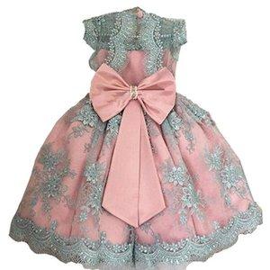 Bébé Fille Enfants Princesse Sequin Boknot robe de fête de Noël de demoiselle d'honneur robe de bal robe de demoiselle