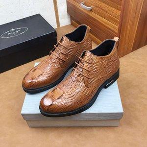Şık erkek deri ayakkabı iş takım elbise ayakkabı İngiliz sivri rahat gelinlik tuvalet ayakkabısı 121502