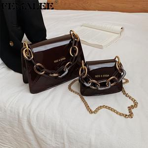 Лакированные Роскошные сумки Женские сумки конструктора Mini сумка плеча цепи Crossbody Сумка Сумки для женщин 2020 Кошелек мешок руки