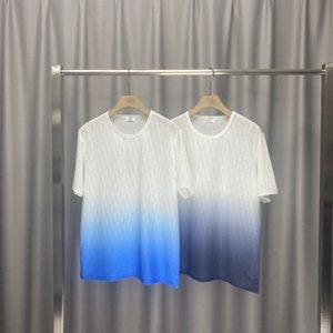 L'inizio della primavera 2020 nuovo blocco di colore lettera marchio Short Sleeve Tee tessuto di cotone doppio filo sottile in bianco e nero nm32x