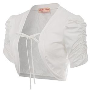 벨 Poque 여성의 짧은 소매 볼레로 어깨를 으쓱 자른 레이스 가디건 자켓