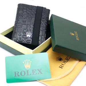 Acessórios do ponto de Luxo Abotoaduras Man Camisa MB Cuff Links, Homens de Luxo Genuíno Couro MB Carteira de Alta Capacidade Titular do Cartão Dobrável