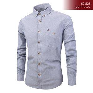 nova camisa listrada camisa de algodão no negócio de forma ocasional Reserva 2020 aramy camisate dos homens