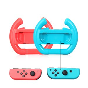 2pcs Racing Wheel KingTop Steering Wheel for Nintend Switch Joy-Con Steering Wheel for Switch Controller Red+Blue