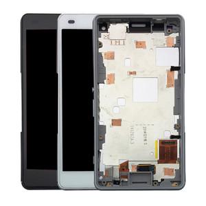 Çerçeve Parçaları ile Sony Xperia Z3 Kompakt LCD Ekran Dokunmatik Ekran Digitizer Ekran Yedek Tam Montaj için Sony Z3 Mini Display İçin