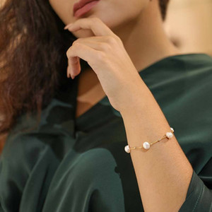 Daimi Personality Fashion Pearl Bracelet Floating Pearl With Silver Ball Chain Bracelet For Gift Y19061003