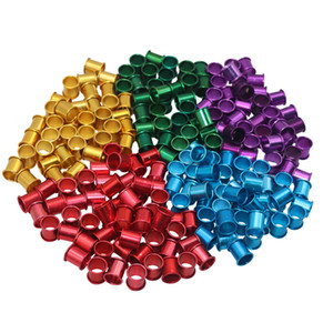 100 pcs Pigeon Bird Foot Ring Farm Animal Carriers Inner diameter 8mm Length 10mm Bright colors Aluminum Poultry Foot tag ring