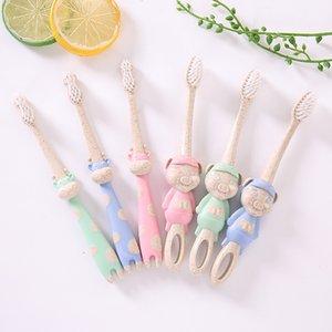 Bébé mignon brosse à dents à poils doux pour enfants dents dessin animé personnage cerf formation brosses à dents bébé soins dentaires brosse à dents