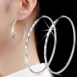 famous designer earrings female Classic Korean jewelry silver earring Diamond car flower earrings Exaggerated oversized circle earrings