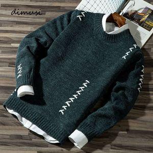DIMUSI Primavera Outono Mens Sweater Casual Lã pulôver Jumper pulôver Moda Mens Slim Fit Malha camisa da roupa