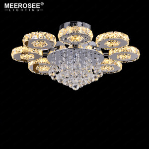 Modern LED Crystal Ceiling Light Round Circle Luminaires Home Decorative Chandelier Light Fixture for Shopping Mall Lustres de Cristal