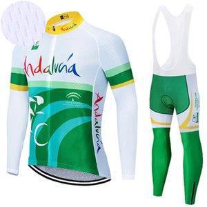 Manga longa ANDALUZA Cycling Team bicicleta sportswear camisa Calças MTB Ropa Ciclismo QuickDry BICYCLING Maillot Culotte roupa