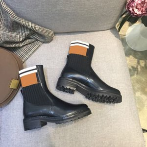 boots autumn leather leisure spring round-toed waterproof fashion Women's shoes