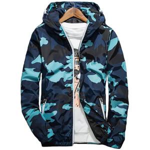 Camouflage Hooded Jacket Men Thin Windbreaker Baseball Jackets Mens Spring Autumn Streetwear Outdoorsports Hip Hop Coat